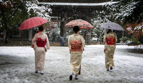 Kimonos in the Snow